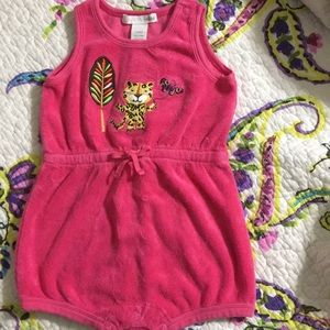 H&M baby girl Terry Pink  Romper